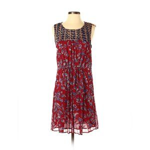 Lucky brand mix print maroon mini dress